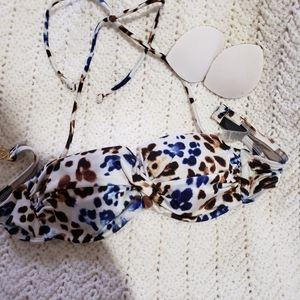 Victoria's secret animal print bandaux top